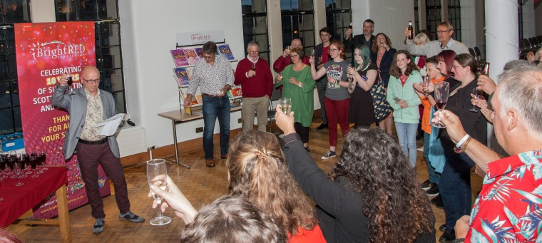 Raising a glass to 10 years of Bright Red Publishing