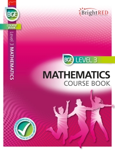 Front cover of BGE Level 3 Mathematics Course Book